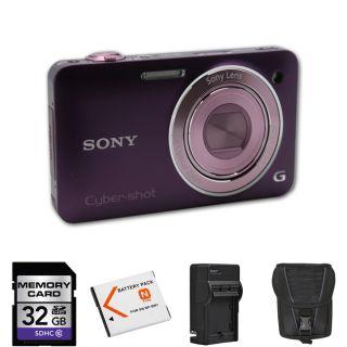 Sony Cyber shot DSC WX5 Violet Digital Camera 32GB Bundle Today $198