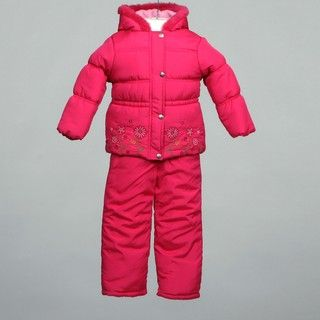 Pink Platinum Girls Two piece Snowsuit Set