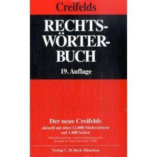 Rechtswörterbuch Carl Creifelds, Klaus Weber Bücher