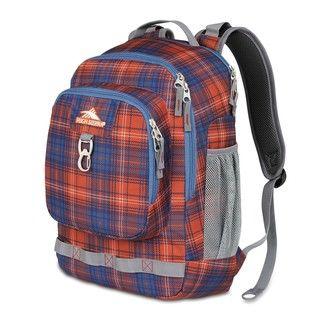 High Sierra Brewster Flannel Plaid Laptop Backpack