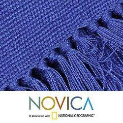 Cotton Antigua Blue 12 piece Placemat and Napkin Set (Guatemala