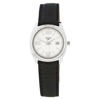 Longines LungoMare Womens Black Strap Watch