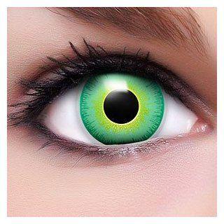 Farbige gün schwarze Crazy Fun Kontaktlinsen Alien mit gratis