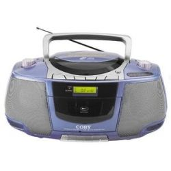 Coby MP CD450 Portable CD/ Radio/ Stereo Cassette Player/ Recorder