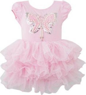 Mädchen Kleid Tutu Kleiden Tanzen Rosa Schmetterling: