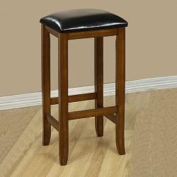 Mission style 29 inch Oak Barstools (Set of 2)