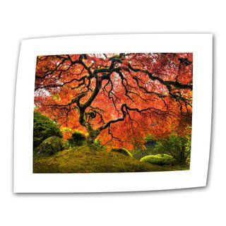John Black  Japanese Tree  Flat Canvas