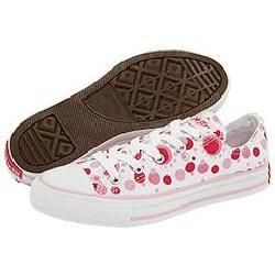 Converse Kids All Star Print Ox (Toddler/Youth) White/Raspberry