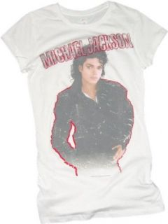 Michael Jackson     Bad Self Mädchen Kurzarm T Shirt in Weiß