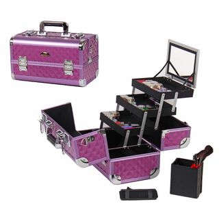 Shany Cosmetics Premium Collection Purple Diamond Makeup Train Case