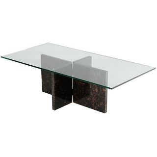 Tan Brown Granite Coffee Table
