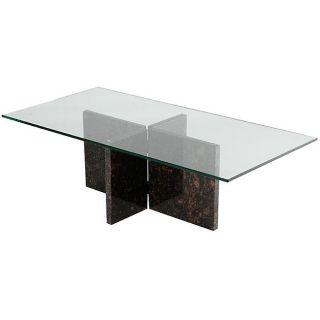 Tan Brown Granite Coffee Table