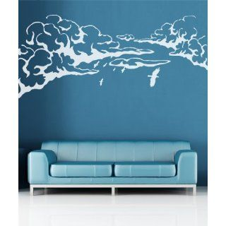 Vinyl Wall Decal Sticker Flying Birds over Clouds