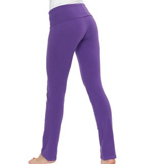 American Apparel Womens Purple Cotton Spandex Jersey Straight Leg