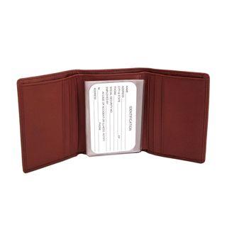 Royce Leather Mens Tri Fold Wallet