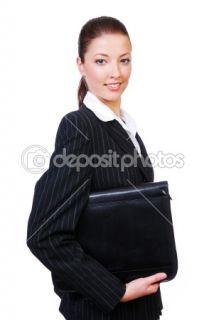 Employee businesswoman holding folder  Stock Photo © Vitaly Valua