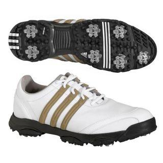 Adidas Mens Golflite Tour White/ White/ Khaki Golf Shoes