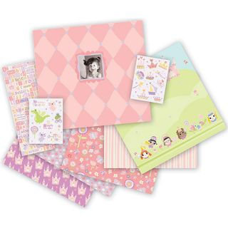 Once Upon A Time 182 piece 12x12 inch Scrapbook Album Kit