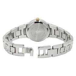 Anne Klein Round Dial Silvertone Metal Bracelet Watch with Goldtone