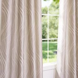 Grommet Sand Dune Faux Silk 95 inch Curtain Panel