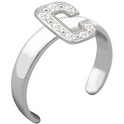 10k Gold Initial C Diamond Accent Toe Ring (G H, SI1 I2)