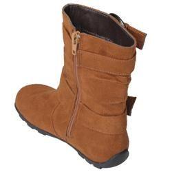 Journee Kids Girls Katty Buckle Accent Mid calf Boots