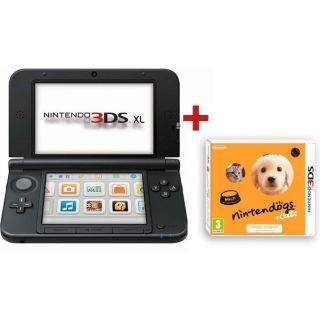 CONSOLE 3DS XL BLEU NOIR+ NINTENDOGS CATS GOLDEN   Achat / Vente DS