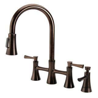 Fontaine Fiore Bridge Brushed Bronze Kitchen Faucet