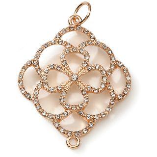 Styled by Tori Spelling (TM) Open Flower Pendant Gold 1/Pkg