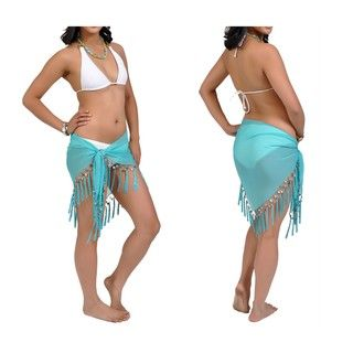 Womens Sheer Turquoise Sarong (Indonesia)