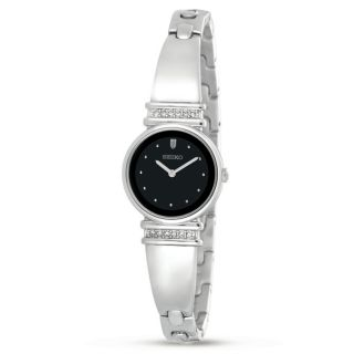 Seiko Womens Crystal Bangle Watch