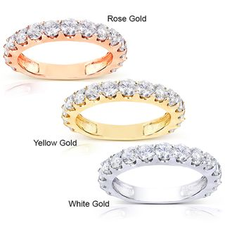 14k Gold 1 1/2ct TDW Semi Eternity Diamond Wedding Band (G H, I1 I2