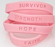 144 breast cancer awareness pink ribbon bracelets   bulk