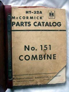 HT 32A McCormick Parts Catalog No. 151 Combine: Books