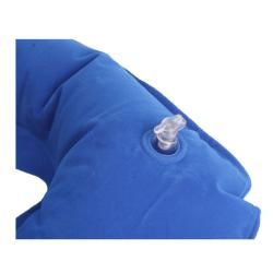 Stylish Inflatable Blue U shaped Neck Rest Travel Pillow