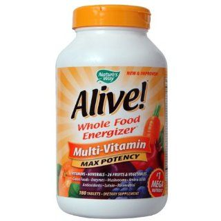 Natures Way, Alive! Whole Food Energizer, Multi Vitamin, Max Potenz