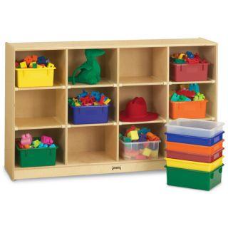 Jonti Craft Baltic Birchwood Cubbie Shelf and Colored Tubs