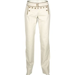 Dolce & Gabbana Womens Sand Ribbed Stripe Pants