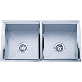Hand made Undermount Stainless Steel Double bowl Sink
