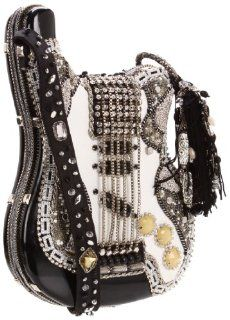 Mary Frances 09 152 Graceland Shoulder Bag,Black/White,One