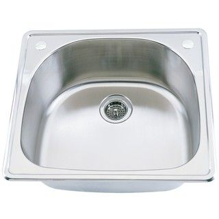 shaped Top Mount Stainless Steel Single Sink