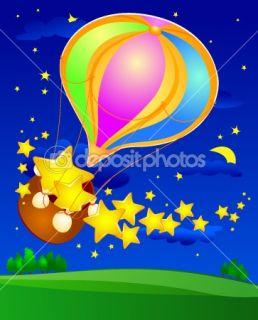 Balloon with stars  Stock Vector © Luisa Venturoli #5833777