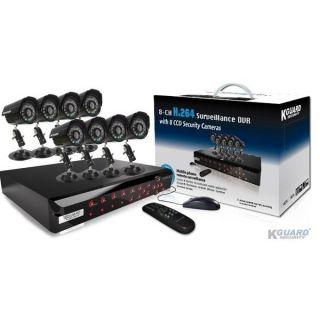 Pack VIDEO 8 CAMERAS   PACK VIDEOSURVEILLANCE COMPLET DVR H264 (sans