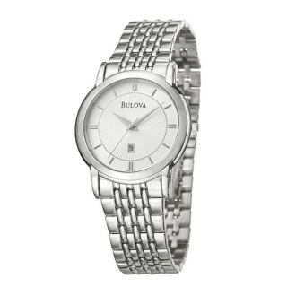 Bulova Mens Bracelet Stainless Steel Quartz Date Watch