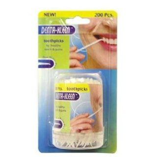 200 Pieces Plastic Toothpicks Case Pack 144 Health & Personal Care