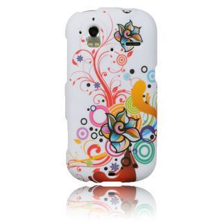 Luxmo Autumn Flower Rubber Coated Case for HTC Amaze 4G