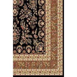 Lyndhurst Collection Black/ Tan Rug (4 x 6)