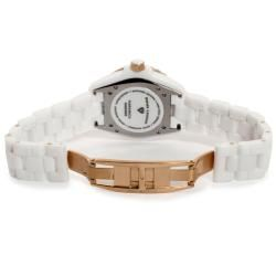 Swiss Legend Womens Karamica White Ceramic White Diamond Watch