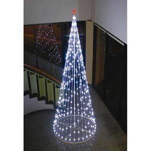 Homebrite 144 Prelit Christmas Tree W Star, 61378, White