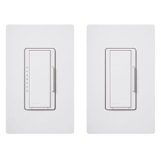 Lutron MACL 153M RHW WH Maestro 150 Watt Multi Location CFL/LED